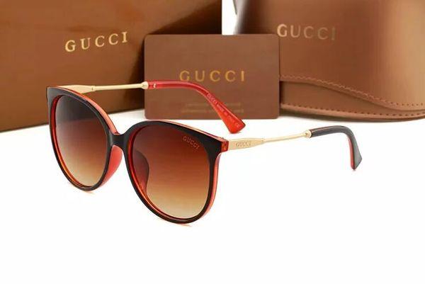 2019 Óculos De Sol Designer De Óculos De Ouro Lente De Vidro Do Flash Para Homens Das Mulheres Óculos De Sol Redondos unissex sunglasse frete grátis 1719