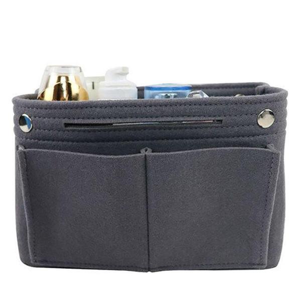 Multi-Função de Viagem Portátil Sentiu Saco Cosmético Bolsa Organizador Inserir Multi-Purpose Handbag Organizer Insert Saco Cosmético
