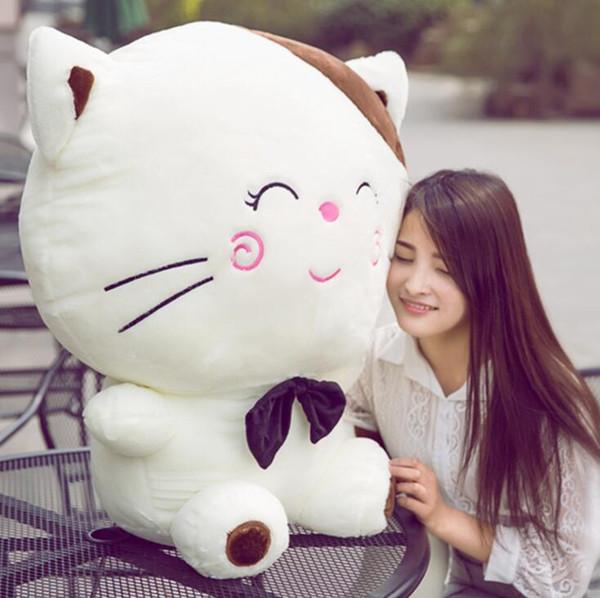 Kedi peluş oyuncak büyük yüz kedi bebek yastık bebek sevimli bebek peluş yastık kız peluş hediye