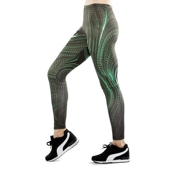 9622dab1b4404 Женские брюки йога брюки брюки колготки женские высокая талия новый стиль  темно-зеленый полосатый танец активные леггинсы тощий сильм движение фитнес
