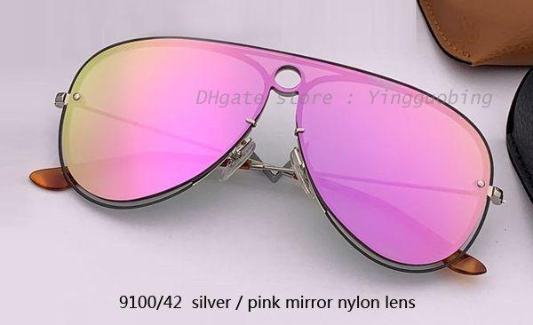Lente specchio 9100/42 argento / rosa