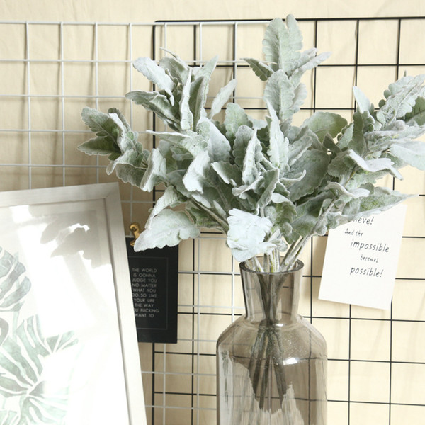 artificial plants silver leaf branch green leaves plant wall weeding decoration marriage artificial leaves grass wall fake plants flower