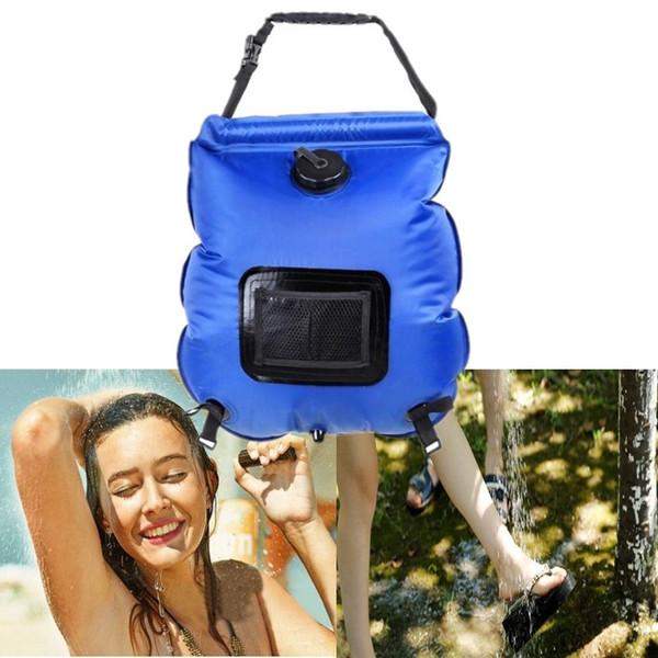 Outdoor 20L Solar Beheizte Dusche Wasser Tasche Camping Reise Falten Tragbare Strand Camp Dusche Badetasche c0122-1
