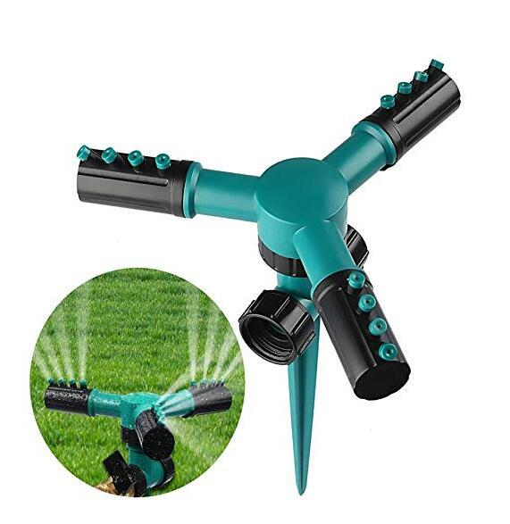 top popular Three Arm Automatic Sprinkler 360 Degree Rotary Spray Head Garden Greenhouse Garden Lawn Irrigation Watering Equipments GGA2141 2021