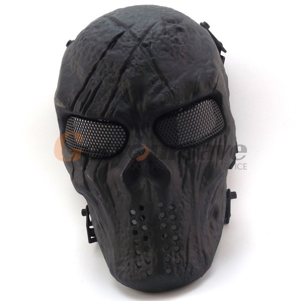 New Skull Skeleton Army Airsoft Tactical Paintball Full Face Protection Mask Y200103