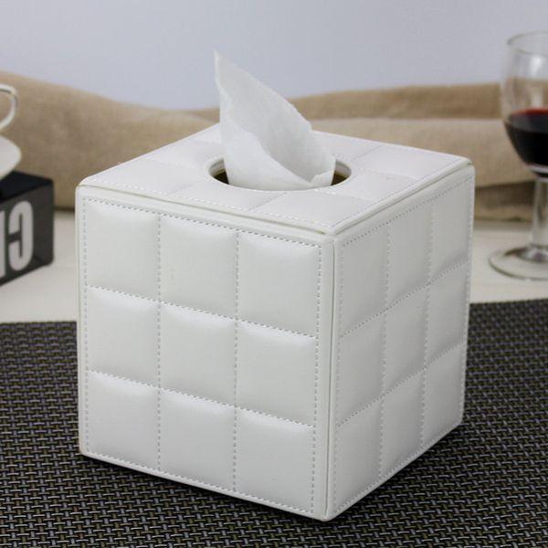 Leather Tissue Box Napkin Paper Tube Barrel Home Living Room Coffee Table Restaurant European Creative E019