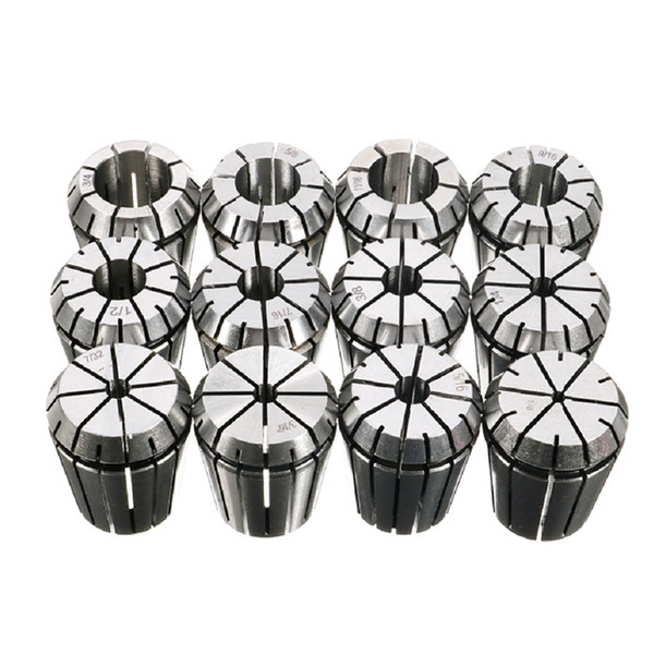 Freeshipping Er32 Inch Milling Cutter Chuck 12Pcs/Set Precision Imperial Collet 1/8 Inch To 3/4 Inch Cnc Milling Lathe Tool Accessorie