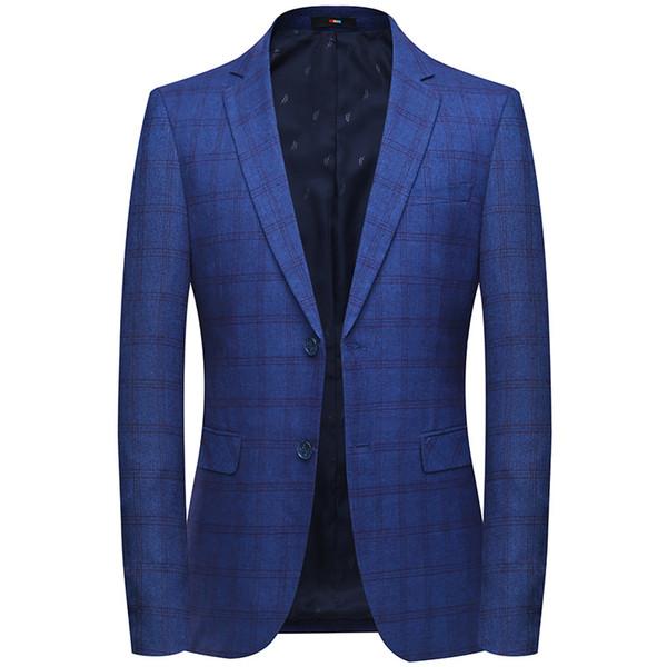 Marca Blazer Men 2019 Nueva llegada para hombre Slim Fit Blazer chaqueta coreana elegante solo botón hombres traje traje Veste Homme