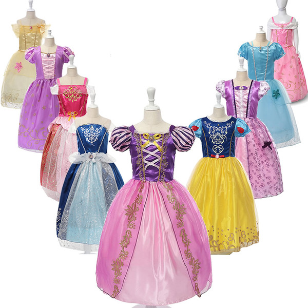 Girls Dresses Party Princess Dresses With Cute Bow For Kids Summer Clothing 9 colors for choose Baby Girl Princess Dress Kids Designer Skirt