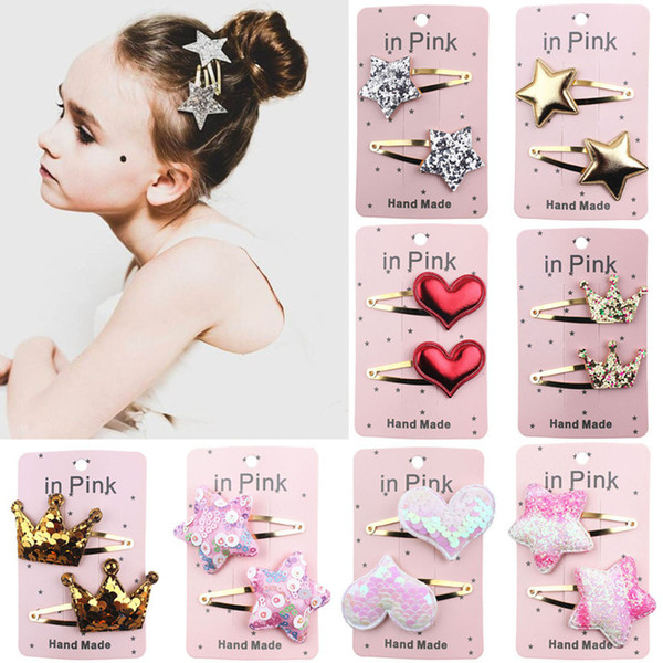 25 Pairs new fashion Hair Barrettes For Baby Girls Kids Children Accessories Hairpin New Hair Clips Special Styling clips