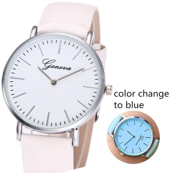 Simple Female Watches Studente Orologi da polso 2019 Brand New Fashion Casual Women photosensitive Cambia colore Geneva Watch all'ingrosso LW005