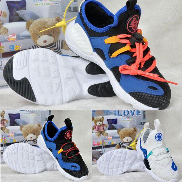 Bebê recém-nascido Huaraches 7 E.D.G.E. TXT QS Crianças Confortáveis Tênis De Corrida Infantis Meninos Meninas Formadores Crianças Crianças Triplo Sneakers