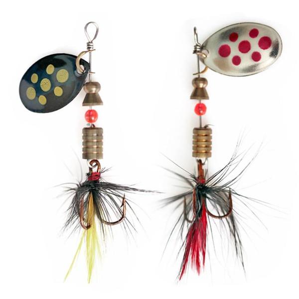 1Pcs Cucchiaio Spinner Metal Bait Fishin Lure Paillettes Crankbait Cucchiaio Esche per Basso Trota Pesce persico Luccio Pesca Rotante 4.5g 57mm
