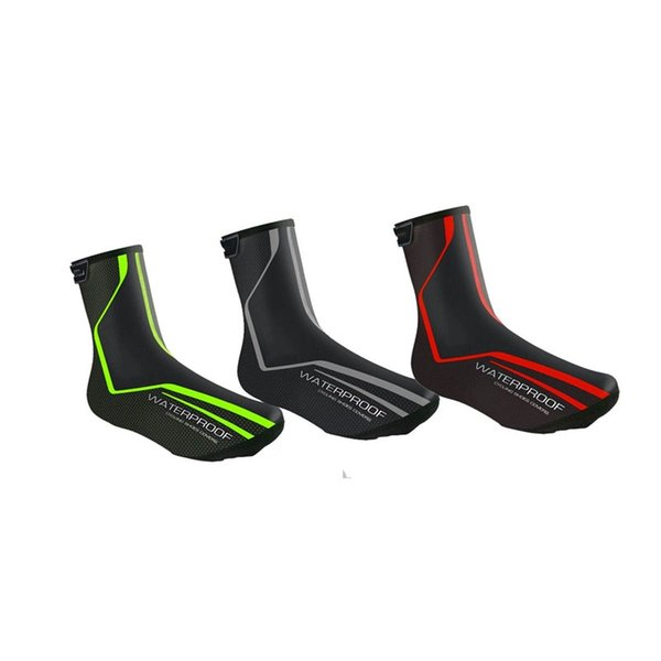 Hewolf Ankle Support Shoe Cover PU fabric Reflective Waterproof Windproof Bike Cycling Shoe Covers Winter Snow Cover Foot Sleeve #17838