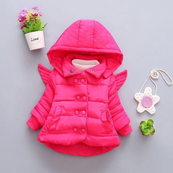 Vendita calda neonate cappotto bambino felpa con cappuccio thicknes bambini autunno inverno vestiti infantili giacca tinta unita cappotti giù parka outwear SH190907