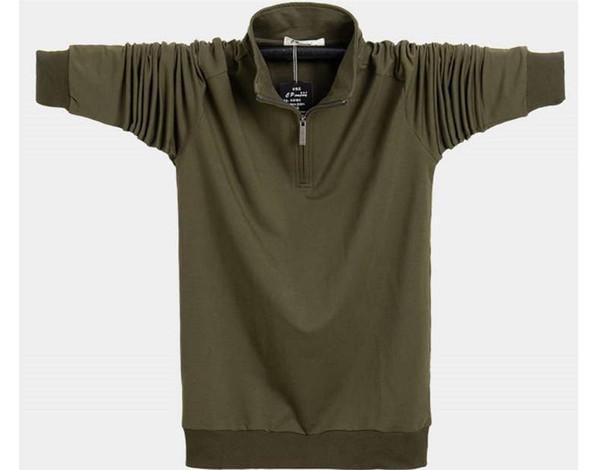 LuxuxMens Printed T-Shirt Designer plus lose T Mode Zipper mit langen Ärmeln Tops