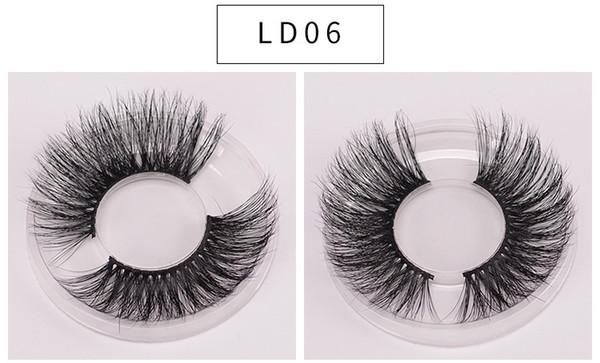 LD06 3D Real Mink Cílios Cílios Naturais Comprimento 25mm Extensão reutilizável Lash 5d vison cílios venda quente vison cílios