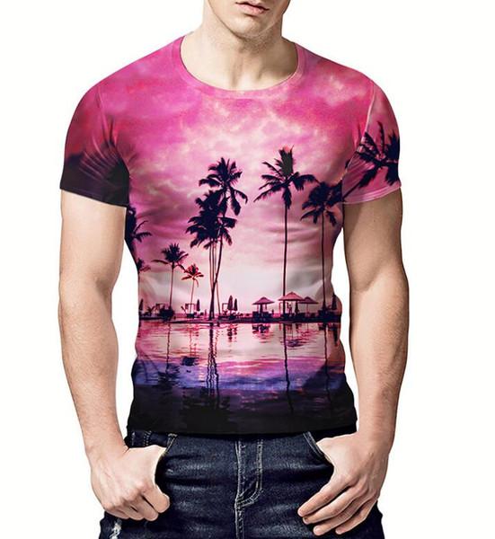 Best selling men's design T-shirt 2019 summer new creative letter 3D printing loose short-sleeved fashion street t-shirt