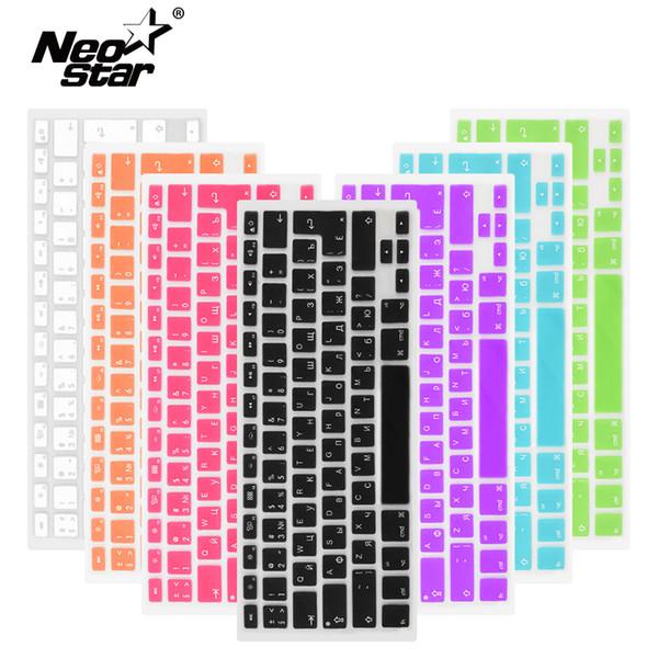 Russian English Keyboard Cover For Apple Macbook Pro Air 13 15 Soft Tpu Waterproof Keyboard Stickers For Macbook Eu Us 13 15 T190619