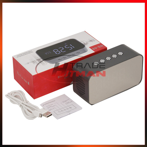 Clock Bluetooth Speaker Surround Sound Wireless Speakers Subwoofers FM Amplifier Radio Portable Alarm Clock Multifunction With LED Time