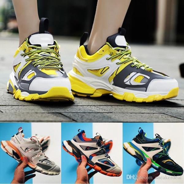 Designer Triple S Track 3.0 Release Tess S Paris Gomma Maille Black Low Track 3M Zapatos casuales Clunky Designer Sneaker con caja