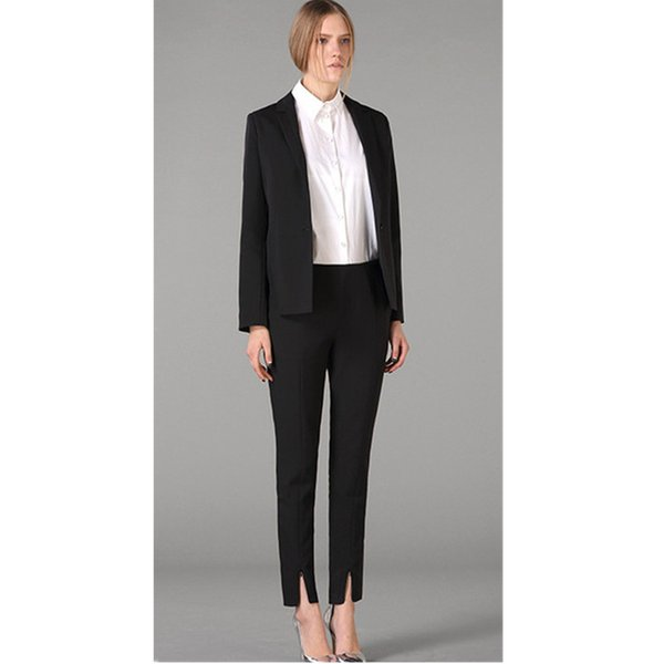 Now popular new casual solid color ladies suit two-piece suit (jacket + pants) ladies business office official professional custom