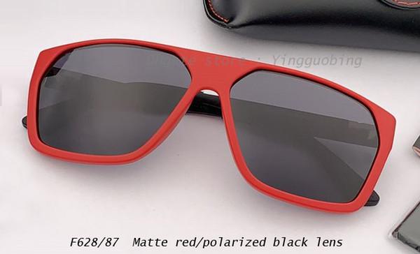 lente rojo mate / polarizado negro