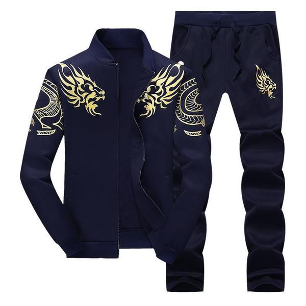 Bumpybeast chaqueta con cremallera + pantalón de polo conjunto 2019 Casual hombre traje deportivo con capucha hombre '; S traje de pista sudadera masculina conjunto de dos piezas