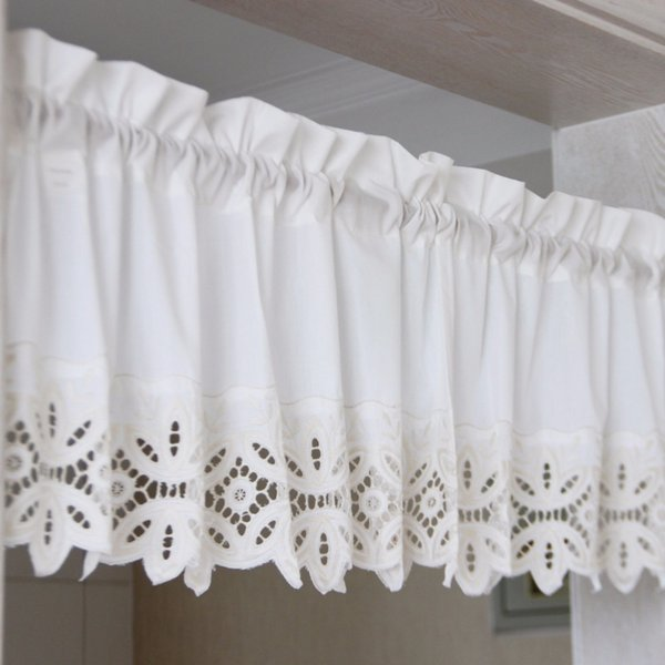 2019 Home Decoration American Style Coffee Curtains Short Curtains For  Kitchen / Dining Room Embroidered Lace From Linita, $41.41 | DHgate.Com