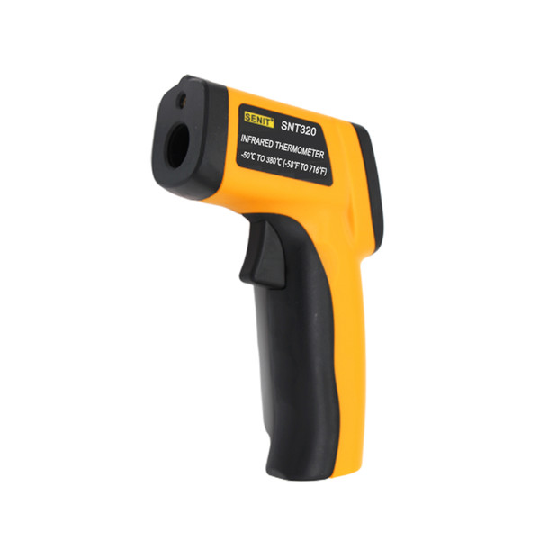 Wholesale -50~380 C Digital Laser IR Infrared Thermometer LCD Display Temperature Meter Non-Contact Industrial Thermometer Pyrometer