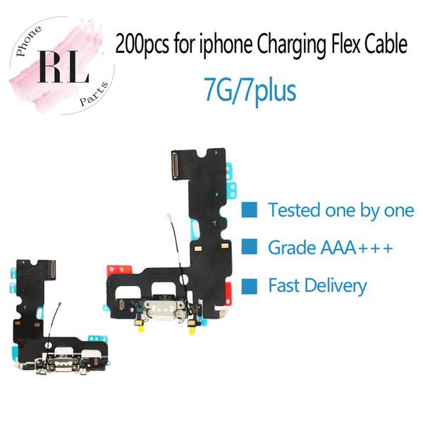200PCS Parts New USB Caricatore per ricarica Dock Connector per iPhone 7 7G 7 Plus 7P Cuffie Audio Jack Flex Cable