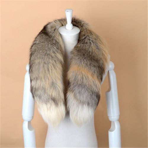 Men Women High Quality Hot Sale 100% Real Natural Fox Fur Collar Scarves Wraps Luxury Scarf Shawl