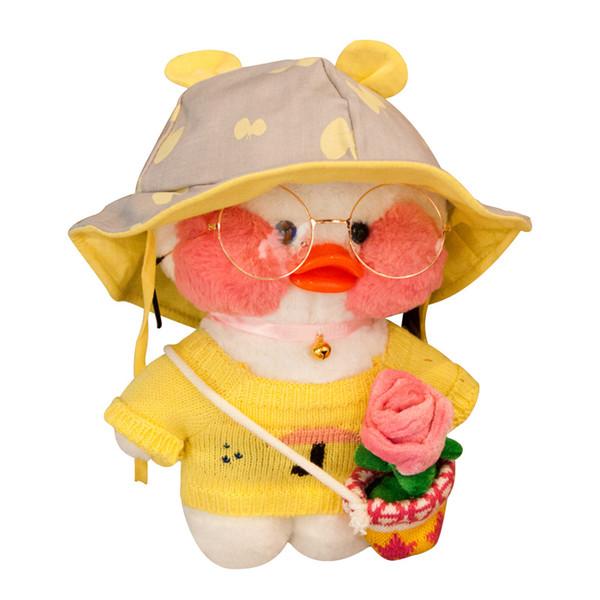 Scaldamani Cuscino Giocattolo per bambini Mimi Piccola anatra gialla Giocattolo fai da te creativo Bambine sveglie Regalo presente Giocattoli per bambini