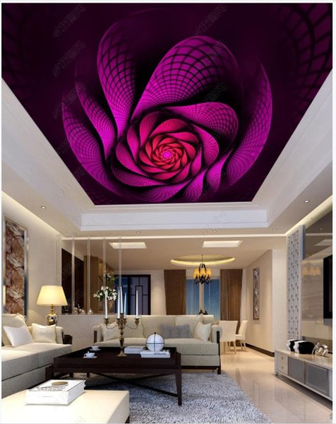 Photo personnalisé fonds d'écran 3d plafond papier peint coloré spirale radiant mode hôtel KTV plafond zénith décoration murale peinture