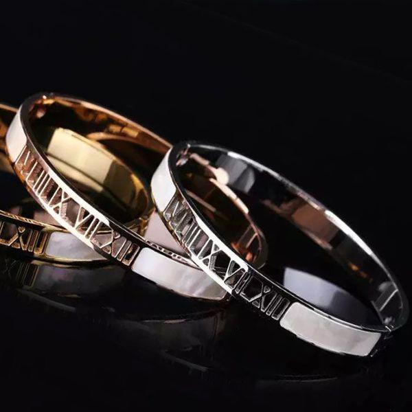 New Design Pulseiras Love Bracelet FemaleTitanium Steel white Shell Bangle 18K Gold Bracelets Bangles for women Wedding Engagement Jewelry