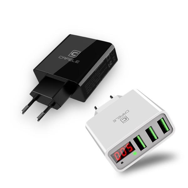 Gerçek Zamanlı Akım ve Gerilim ile akıllı Telefon Şarj Ekran telefon Şarj Cihazı 2.4A İki USB Şarj Euro Düzenlemesi Güvenlikle ...