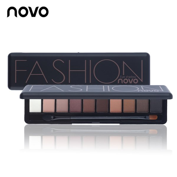 Factory Eyeshadow 10 Colors Shimmer Matte Makeup Eye Shadow Palette Light Natural Make Up Cosmetics NOVO Sets with Brush Fast Free Delivery