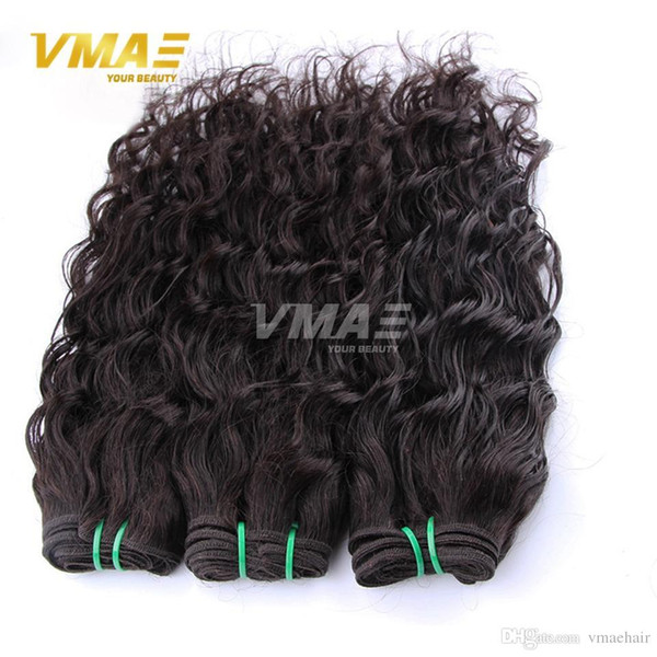3 Bundles Brazilian Virgin Water Wave Virgin Hair Ocean natural Wave Wet And Wavy Human Hair Weave Bundles VMAE Brazilian Hair