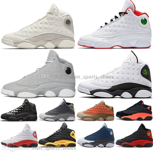 With Box Fashion 13 13s Cap And Gown Terracotta Blush Mens Basketball Shoes Chicago Black Infrared Flints Bred Men Sports Sneakers Designer