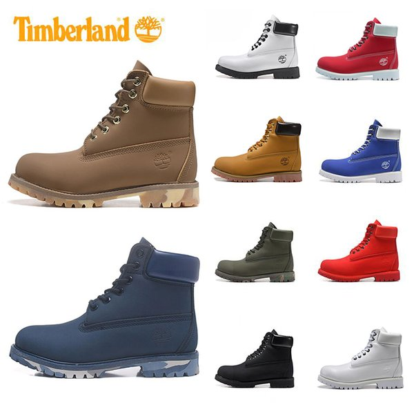 Newest 2019 designer Brand boots for mens winter boots top quality womens Boot Military Triple White Black Camo Sneaker Shoe US 5-11