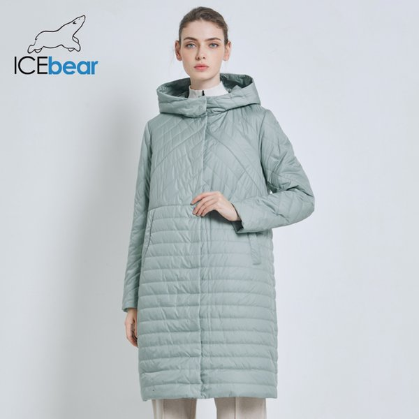 ICEbear 2019 New Autumn Coat Casual Female Coats Hooded Women's Clothing Long Brand Jacket with Zipper GWC19039I Y190926