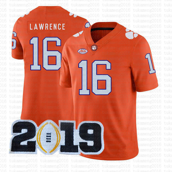 2019 2019 Patch 16 Trevor Lawrence Clemson Tigers College ...