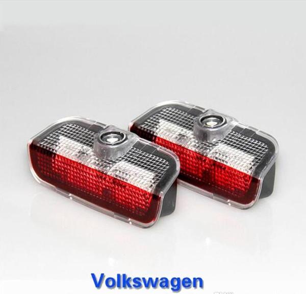 2 pz LED Car Door Warning Lampada VW Logo Luce del Proiettore Per Jetta MK5 MK6 MK7 Passat B6 B7 CC Golf6 7 Weclome Luce