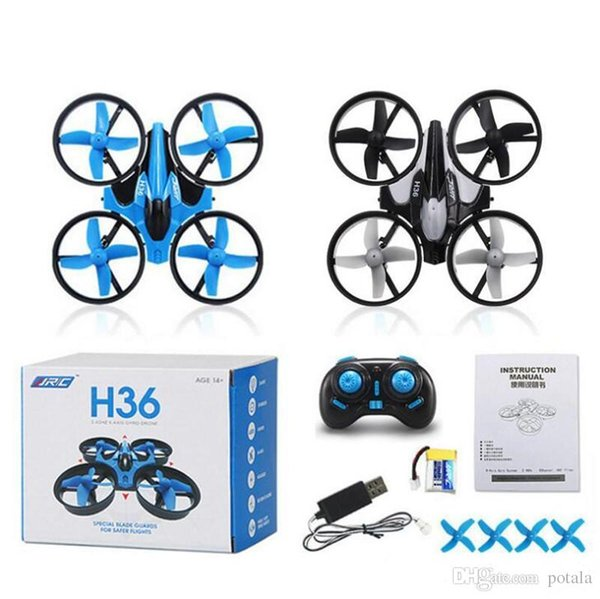 H36 Mini Drone 2.4GHz 6 Axis RC Micro Quadcopters With Headless Mode Drones Flying Helicopter For Kid Gift Blue Grey Carton box packages