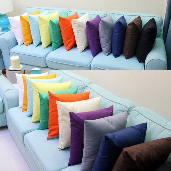 30pcs 18x18 inches 8oz Pure Cotton Dyed Canvas Cushion Cover Solid Colors 100% Cotton Canvas Pillow Cover 100 Colors Stock Available