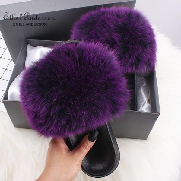 Dark Purple Fox Fur
