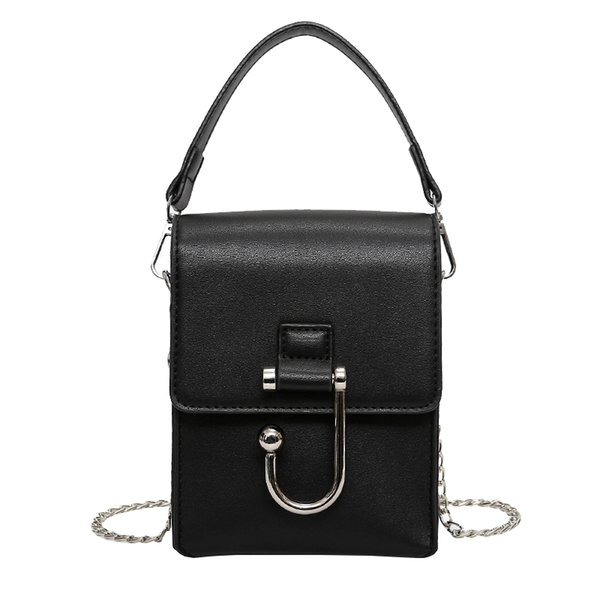 2019 Korea Style Mini Women Crossbody Chain Bags Black White Color Cute Summer Women Phone Bags Purese Pu Leather With Lock 317