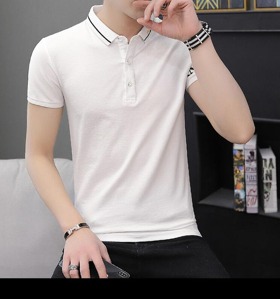 Summer new men's cotton casual apel POLO shirt fashion trend popular logo men's Korean half sleeve T-shirt