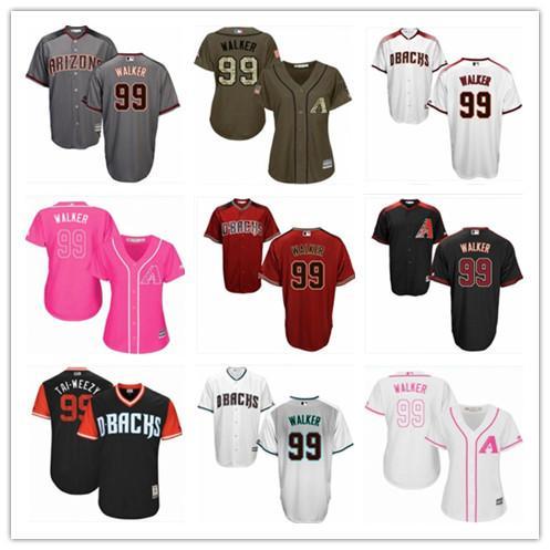 2019 top Diamondbacks Jerseys #99 Walker Jerseys men#WOMEN#YOUTH#Men's Baseball Jersey Majestic Stitched Professional sportswear
