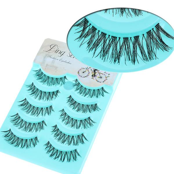 5 Pares Venda Quente Mulheres Lady New Natural Macio Eye Lashes Maquiagem Artesanal Grosso Falso Ferramentas Cílios Postiços